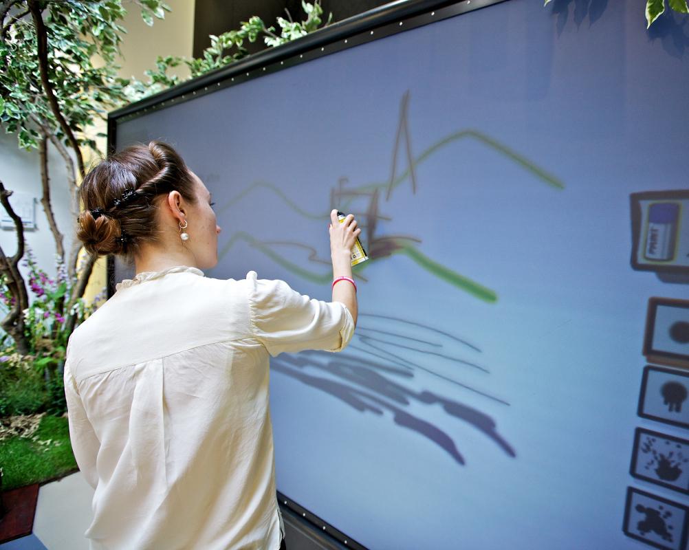 Digital wall graffiti - Digital Graffiti Wall