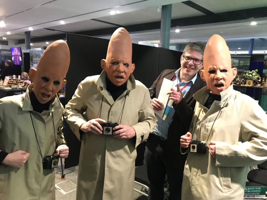 Adam meets the Coneheads