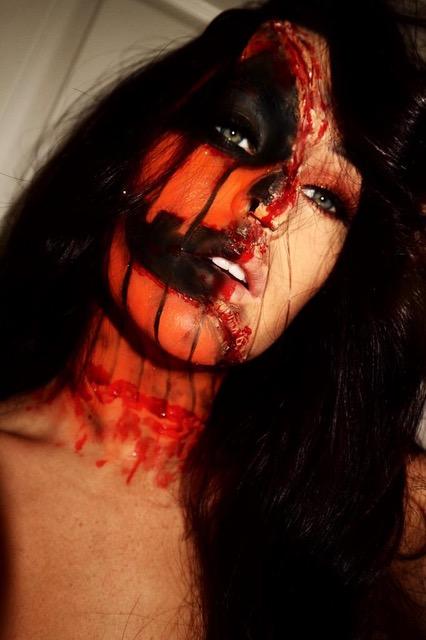 Halloween Makeup for an Event