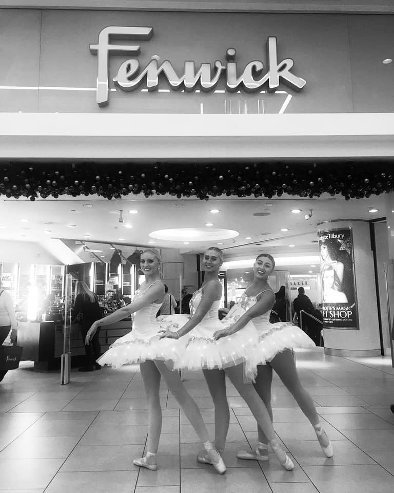 Ballerinas at Fenwick, Newcastle